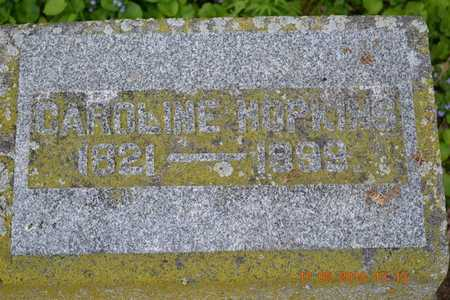HOPKINS, CAROLINE - Hillsdale County, Michigan   CAROLINE HOPKINS - Michigan Gravestone Photos