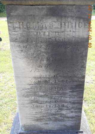 PRICE, MARTHA - Hillsdale County, Michigan | MARTHA PRICE - Michigan Gravestone Photos