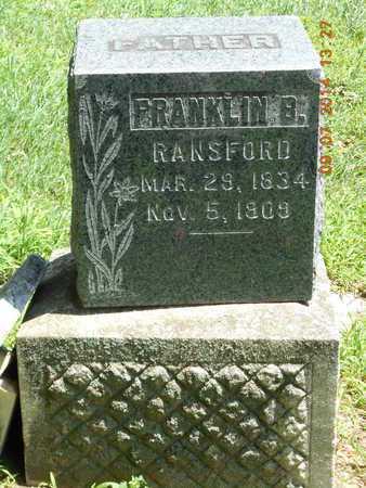 RANSFORD, FRANKLIN B. - Hillsdale County, Michigan   FRANKLIN B. RANSFORD - Michigan Gravestone Photos