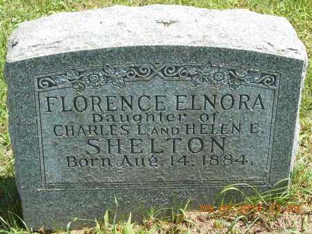 SHELTON, FLORENCE ELNORA - Hillsdale County, Michigan | FLORENCE ELNORA SHELTON - Michigan Gravestone Photos