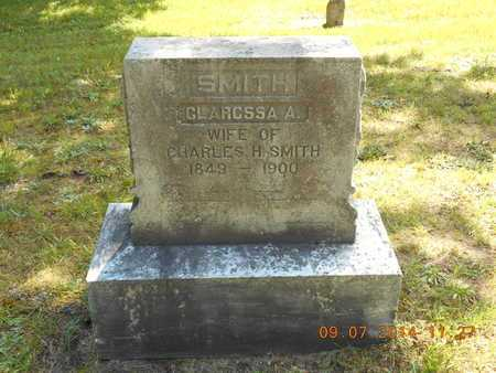 SMITH, CLARISSA A. - Hillsdale County, Michigan   CLARISSA A. SMITH - Michigan Gravestone Photos