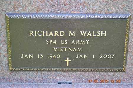 WALSH, RICHARD M. - Hillsdale County, Michigan | RICHARD M. WALSH - Michigan Gravestone Photos