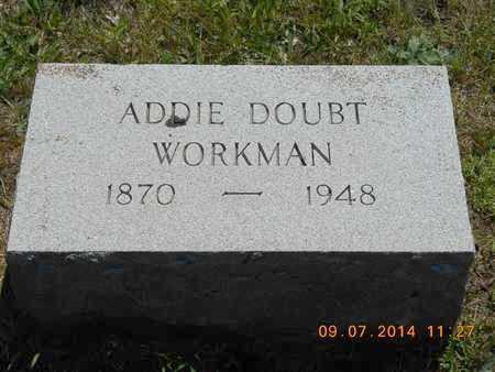 WORKMAN, ADDIE DOUBT - Hillsdale County, Michigan   ADDIE DOUBT WORKMAN - Michigan Gravestone Photos