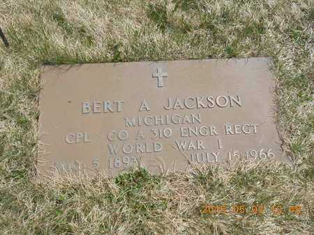 JACKSON, BERT A. - Iron County, Michigan | BERT A. JACKSON - Michigan Gravestone Photos