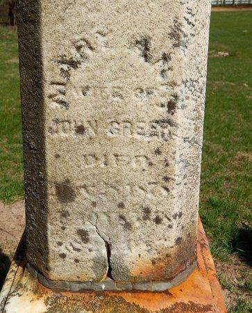 GREER, MARY ANN - Kalamazoo County, Michigan   MARY ANN GREER - Michigan Gravestone Photos
