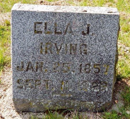 IRVING, ELLA J. - Kalamazoo County, Michigan   ELLA J. IRVING - Michigan Gravestone Photos