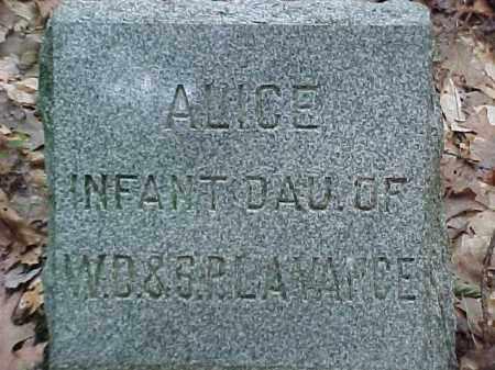 LAVANCE LAVANCE, ALICE - Leelanau County, Michigan | ALICE LAVANCE LAVANCE - Michigan Gravestone Photos