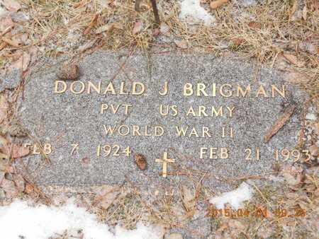 BRIGMAN, DONALD J. - Marquette County, Michigan | DONALD J. BRIGMAN - Michigan Gravestone Photos