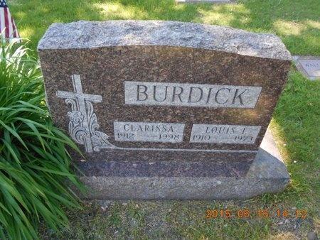 BURDICK, LOUIS I. - Marquette County, Michigan | LOUIS I. BURDICK - Michigan Gravestone Photos