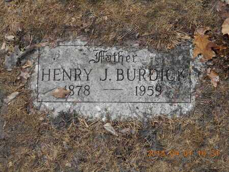 BURDICK, HENRY J. - Marquette County, Michigan | HENRY J. BURDICK - Michigan Gravestone Photos