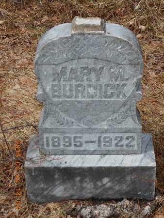BURDICK, MARY M. - Marquette County, Michigan   MARY M. BURDICK - Michigan Gravestone Photos