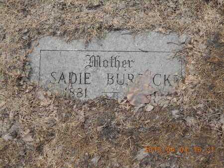BURDICK, SADIE - Marquette County, Michigan | SADIE BURDICK - Michigan Gravestone Photos
