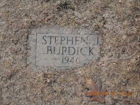 BURDICK, STEPHEN J. - Marquette County, Michigan | STEPHEN J. BURDICK - Michigan Gravestone Photos