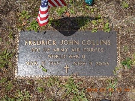 COLLINS, FREDRICK JOHN - Marquette County, Michigan | FREDRICK JOHN COLLINS - Michigan Gravestone Photos