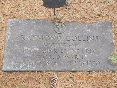 COLLINS, RAYMOND - Marquette County, Michigan | RAYMOND COLLINS - Michigan Gravestone Photos