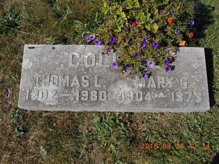 COLLINS, MARY G. - Marquette County, Michigan   MARY G. COLLINS - Michigan Gravestone Photos