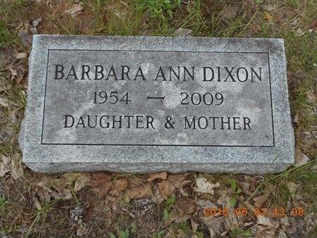 DIXON, BARBARA ANN - Marquette County, Michigan | BARBARA ANN DIXON - Michigan Gravestone Photos