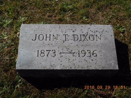 DIXON, JOHN T. - Marquette County, Michigan | JOHN T. DIXON - Michigan Gravestone Photos