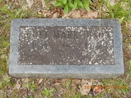 DIXON, SCOTT MARK - Marquette County, Michigan | SCOTT MARK DIXON - Michigan Gravestone Photos