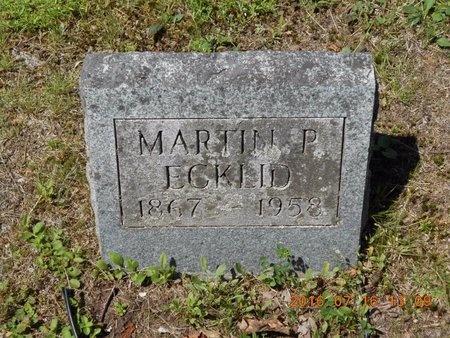 ECKLID, MARTIN P. - Marquette County, Michigan | MARTIN P. ECKLID - Michigan Gravestone Photos