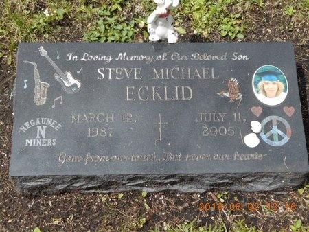 ECKLID, STEVE MICHAEL - Marquette County, Michigan | STEVE MICHAEL ECKLID - Michigan Gravestone Photos