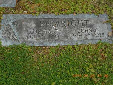 ENWRIGHT, LORETTA J. - Marquette County, Michigan | LORETTA J. ENWRIGHT - Michigan Gravestone Photos