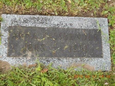 FASSBENDER, ANNA - Marquette County, Michigan | ANNA FASSBENDER - Michigan Gravestone Photos