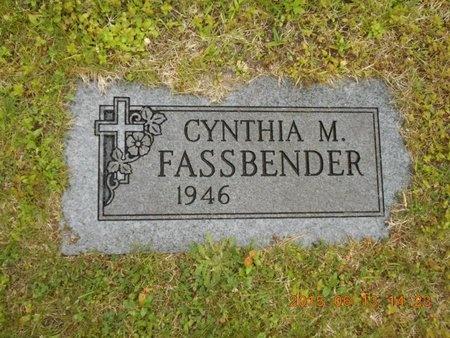 FASSBENDER, CYNTHIA M. - Marquette County, Michigan   CYNTHIA M. FASSBENDER - Michigan Gravestone Photos