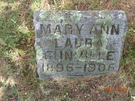 GUNVILLE, MARY ANN - Marquette County, Michigan | MARY ANN GUNVILLE - Michigan Gravestone Photos