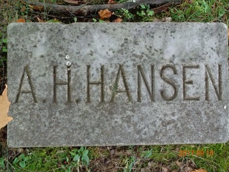 HANSEN, A.H. - Marquette County, Michigan | A.H. HANSEN - Michigan Gravestone Photos