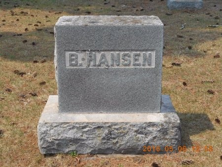 HANSEN, BERNHARD - Marquette County, Michigan | BERNHARD HANSEN - Michigan Gravestone Photos