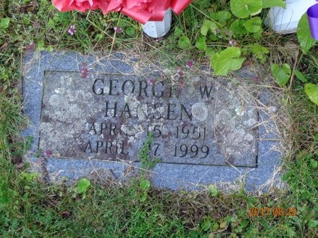 HANSEN, GEORGE W. - Marquette County, Michigan | GEORGE W. HANSEN - Michigan Gravestone Photos