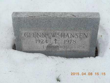 HANSEN, GLENN W. - Marquette County, Michigan | GLENN W. HANSEN - Michigan Gravestone Photos