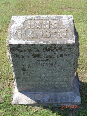 HANSEN, HANS - Marquette County, Michigan | HANS HANSEN - Michigan Gravestone Photos