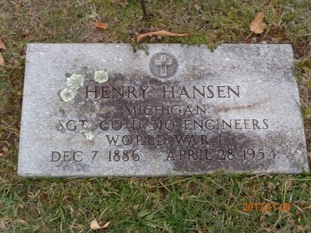 HANSEN, HENRY - Marquette County, Michigan   HENRY HANSEN - Michigan Gravestone Photos