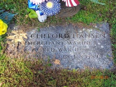 HANSEN, JOHN CLIFFORD - Marquette County, Michigan | JOHN CLIFFORD HANSEN - Michigan Gravestone Photos