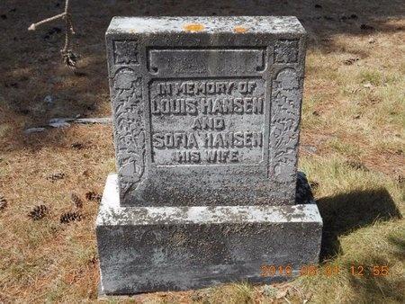 HANSEN, SOFIA - Marquette County, Michigan | SOFIA HANSEN - Michigan Gravestone Photos
