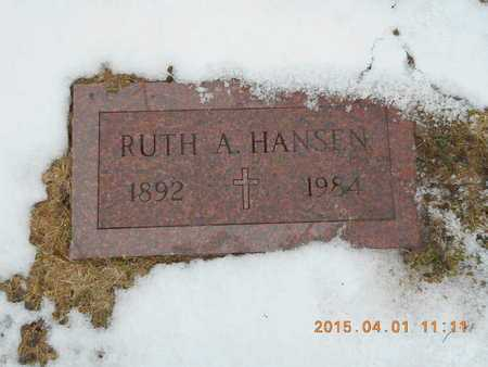 HANSEN, RUTH A. - Marquette County, Michigan | RUTH A. HANSEN - Michigan Gravestone Photos