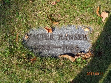 HANSEN, WALTER - Marquette County, Michigan | WALTER HANSEN - Michigan Gravestone Photos