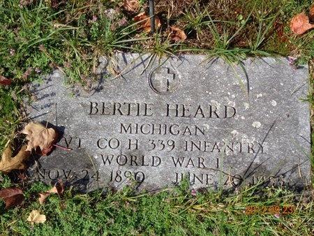 HEARD, BERTIE - Marquette County, Michigan | BERTIE HEARD - Michigan Gravestone Photos