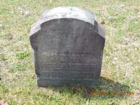 HELANDER, JOHN - Marquette County, Michigan | JOHN HELANDER - Michigan Gravestone Photos