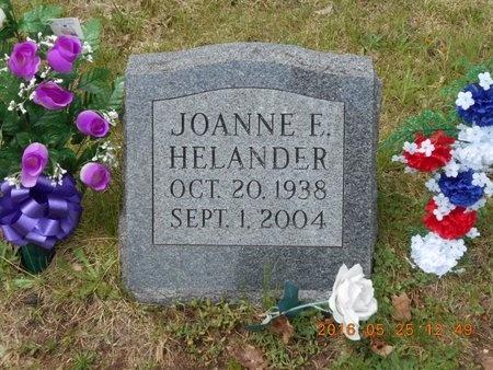 HELANDER, JOANNE E. - Marquette County, Michigan   JOANNE E. HELANDER - Michigan Gravestone Photos