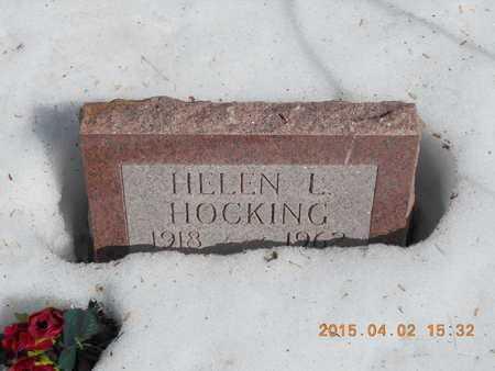 HOCKING, HELEN L. - Marquette County, Michigan   HELEN L. HOCKING - Michigan Gravestone Photos