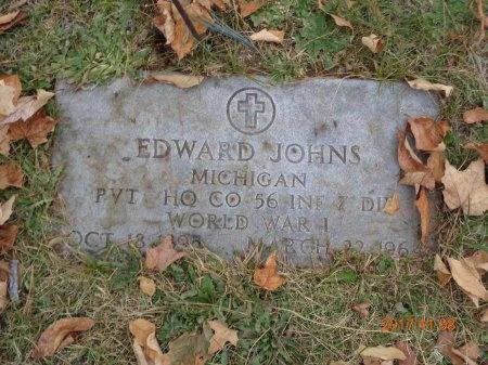 JOHNS, EDWARD - Marquette County, Michigan | EDWARD JOHNS - Michigan Gravestone Photos