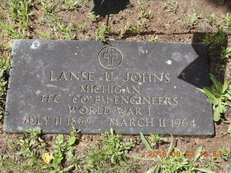 JOHNS, LANSE U. - Marquette County, Michigan | LANSE U. JOHNS - Michigan Gravestone Photos