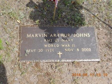 JOHNS, MARVIN ARTHUR - Marquette County, Michigan | MARVIN ARTHUR JOHNS - Michigan Gravestone Photos