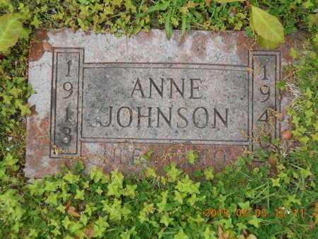 JOHNSON, ANNE - Marquette County, Michigan   ANNE JOHNSON - Michigan Gravestone Photos