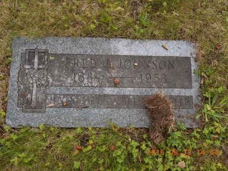 JOHNSON, FRED J. - Marquette County, Michigan | FRED J. JOHNSON - Michigan Gravestone Photos