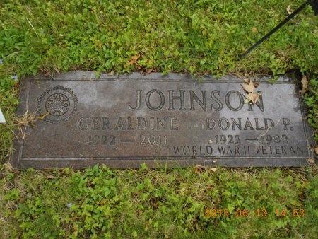 JOHNSON, GERADINE - Marquette County, Michigan | GERADINE JOHNSON - Michigan Gravestone Photos