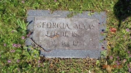 MAAS, GEORGIA - Marquette County, Michigan   GEORGIA MAAS - Michigan Gravestone Photos
